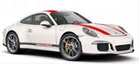 Schuco Porsche 911 R weiß/rot 1:87