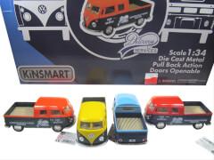 Postler VW Bus Doppelkabine mit Rückzug 1:43