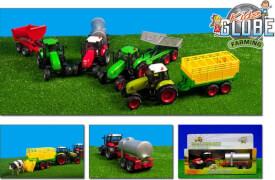 Traktor mit Anhänger mit Rückzug, Licht und Sound
