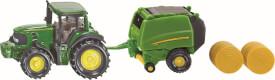 SIKU 1665 SUPER - John Deere Traktor mit Ballenpresse, ab 3 Jahre