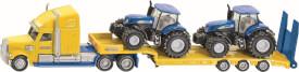SIKU 1805 FARMER - LKW mit New Holland Traktoren, 1:87, ab 3 Jahre