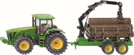 SIKU 1954 FARMER - Traktor mit Forstanhänger, 1:50, ab 3 Jahre
