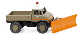 Unimog U 406 mit Schneeschild Transport