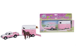 Mitsubishi Pferdetrailer, rosa