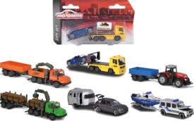 Majorette Trailer Assortment, 6-fach sortiert