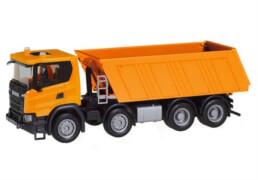 Herpa Scania CG 17 8x4 Bauki. orange