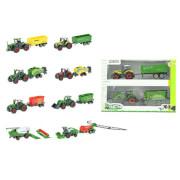 TOITOYS TRACTOR Set 2x -traktor mit Anhänger-, 4-fach sortiert