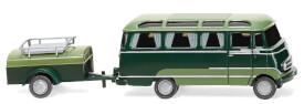 Panoramabus mit Anhänger (MB O 319) - dunkelgrün/resedagrün
