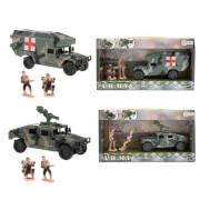 TOITOYS ARMY Fahrzeug Militär Friktion u 2 Soldaten, 2-fach sortiert