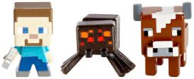 Mattel Minecraft 3er-Pack Sammelfiguren