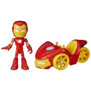 Hasbro F14595L0 Spiderman &Amazing Friends Action-Figur und Fahrzeug, sortiert