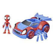 Hasbro F14635L0 Spiderman &Amazing Friends 2in1 Fahrzeug &10cm Figur, sortiert