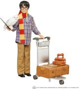 Mattel GXW31 Harry Potter Gleis 9 3/4 Spielset mit Harry Potter Puppe & Hedwig Figur