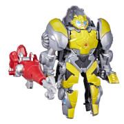 Hasbro F29505L0 Transformers Dinobot Adventures Dinobot Defenders Optimus Prime und Scale der Schild-Bot 2er-Pack verwan
