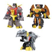 Hasbro F29515L0 Transformers Dinobot Adventures Dinobot Squad Grimlock, Dinobot Snarl und Predaking 3er-Pack verwandelba