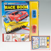 Depesche 5426 Monster Car Race Book mit 2 Rennautos