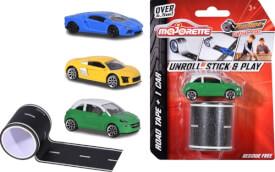 Majorette Playtape Blistercard + Car, 3-sortiert