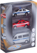 Speed Zone Einsatzfahrzeuge-Set mit Licht und Sound