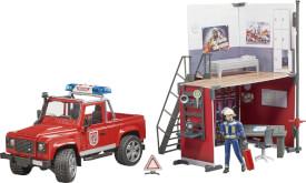 Bruder 62701 bworld Feuerwehrstation mit Land Rover