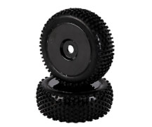 1:8 Reifen-/Felgenset Dish, schwarz 2St.