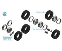 1:24 Reifen-/Felgen-Set Euro (7+7)