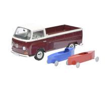 VW T2a + Seifenkisten 1:18