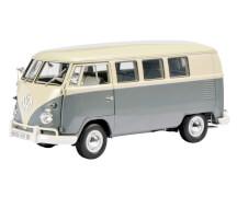 VW T1 Bus, grau/weiß 1:18
