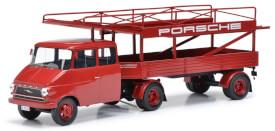 Schuco Opel Renntransp. PORSCHE 1:18