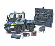 Carson, 1:12 MB Unimog U300 Polizei 2.4G, Blau/Silber, inkl. Akku, Batterien und Ladegerät, 100% (RTR) spielbereit