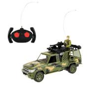 TOITOYS ARMY Auto Jeep Militär mit Soldat R-C