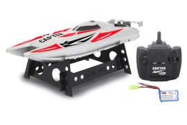 JAMARA 410138 Capter Speedboot weiß/rot LiPo 7,4V 2,4GHz