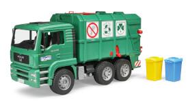 Bruder 02753 MAN TGA Müll-LKW grün, ab 3 Jahren, Maße: 51,5 x 17,5 x 24 cm, Kunststoff