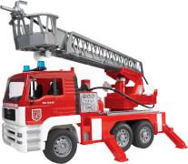 Bruder 02771 MAN Feuerwehr mit Drehleiter, Licht und Sound, ab 3 Jahren, Maße: 47 x 24 x 17 cm