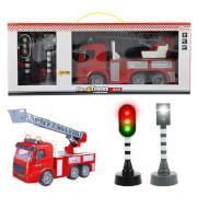 TOITOYS CARS&TRUCKS Set Feuerwehrauto FriktionAmpelL-T