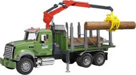 Bruder 02824 MACK Holztransport LKW mit Ladekran