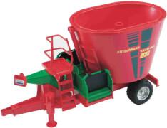 Bruder 02127 Strautmann 1050 Futtermischwagen, Maße: 42 x 18,5 x 22 cm, Kunststoff, ab 3 Jahre