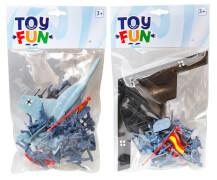 Toy Fun Kampfjet & Soldaten, 2-fach sortiert