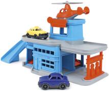 Greentoys - Parkgarage mit Hubschrauber und 2 Autos
