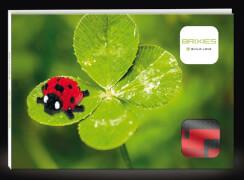 220.019 BRIXIES Postkarte Marienkäfer