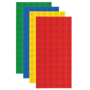 STRICTLY BRIKS - BIG BRIKS STACKABLE Baseplate (10x19 cm) green/yellow/red/blue