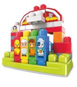 Mattel GCT50 Mega Bloks Musikspaß-Bauernhof mit Geräuschen (46 Teile)