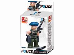 Sluban Cops & Räuber 12 Stück In 4c Karton mit euro loch