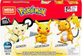 Mattel GYH06 Mega Construx Pokémon Trio (Pichu, Pikachu, Raichu)