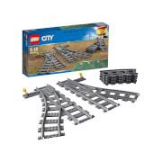 LEGO® City Weichen (60238) Spielzeugeisenbahn, 8 Teile