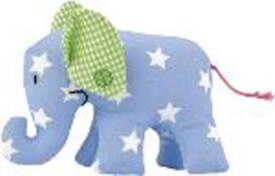 Käthe Kruse Mini Elefant hellblau mit Sternchen