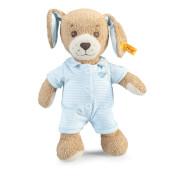 Steiff Gute Nacht Hund, blau, 28 cm