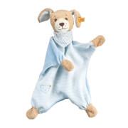 Steiff Gute Nacht Hund Schmusetuch, blau, 30 cm