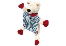 Sigikid 41431 Schnuffeltuch Eisbär, blau-rot, ab 0 Monate
