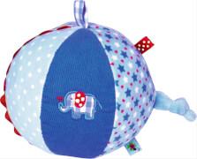 Die Spiegelburg 13690 BabyGlück - Stoffball mit Glockenspiel, hellblau