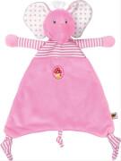 Die Spiegelburg 13965 BabyGlück - Schnuffeltuch Elefant, rosa, ab 0 Monate